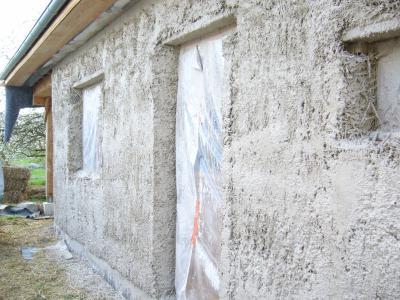 Gobetis de l 39 enduit chaux projet la tyrolienne chemin du roi - Enduit a la tyrolienne ...